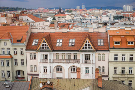 top views of the old town in Brno, Morawia, Czech Republic, Europe.
