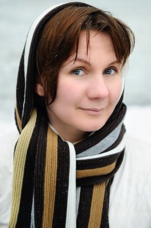 Beautiful winter woman smiling Stock Photo - 9955762