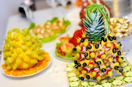 Funny snacks on the table Stock Photo - 9960064