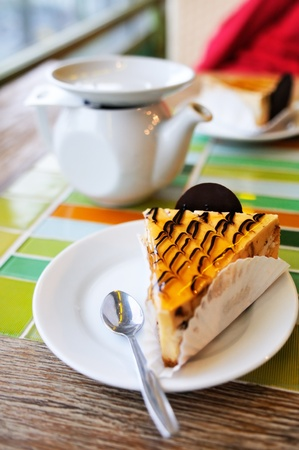 Dessert on the table in cafe Stock Photo - 9955751