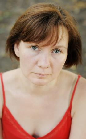 Beautiful woman, outdoors portrait Stock Photo