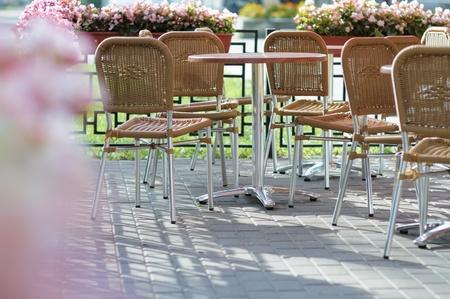 spliced: Outdoor cafe  Stock Photo