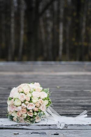 Wedding rozen boeket Stockfoto
