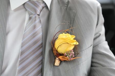buttonhole: Boutonniere groom