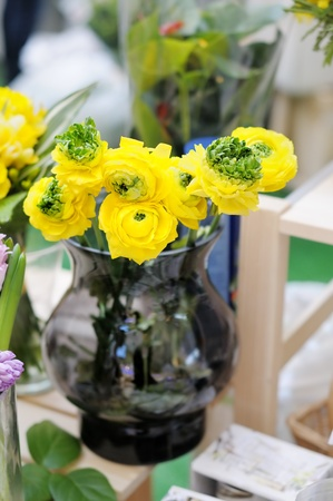 Delicious yellow flowers arranged for sale  photo