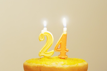Lighted birthday candles Stock Photo - 12867659