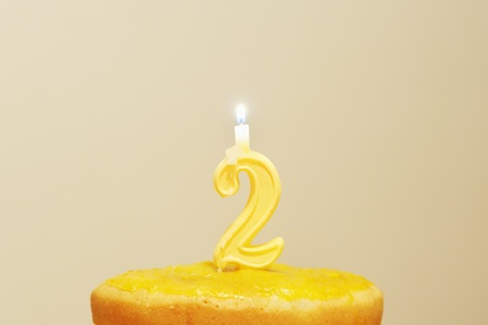 Lighted birthday candle  photo