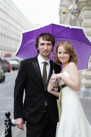 Bride and groom together Stock Photo - 13718516