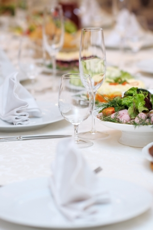 Table set for an event party or wedding reception Stock Photo - 14252590