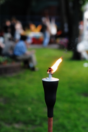 Outdoor Tiki Torch photo