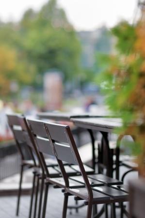 Autumn outdoor cafe