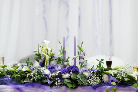 Table set for an event party or wedding reception Stock Photo - 15073795