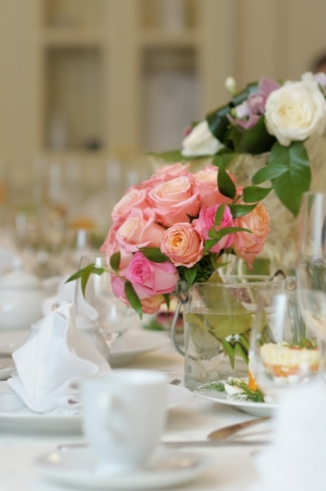 Table set for an event party or wedding reception Stock Photo - 15737714