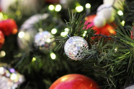 Close up christmas tree