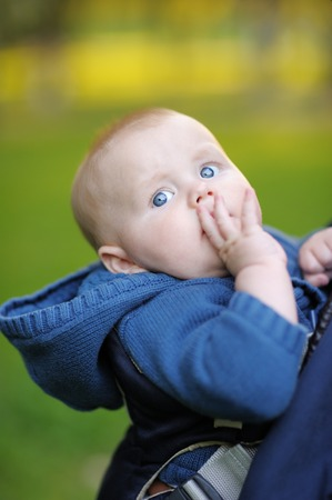 Six month baby boy portraits photo