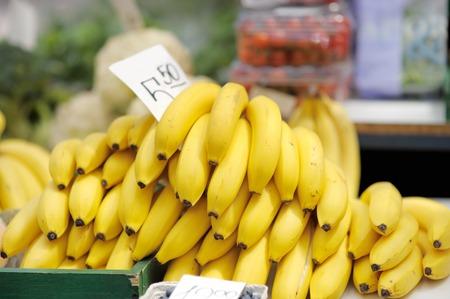 Fresh bananas at farmers market photo