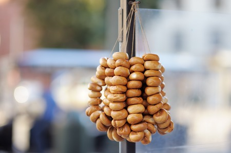 baranka: Traditional Ukrainian, Russian and Polish bread rolls called baranka