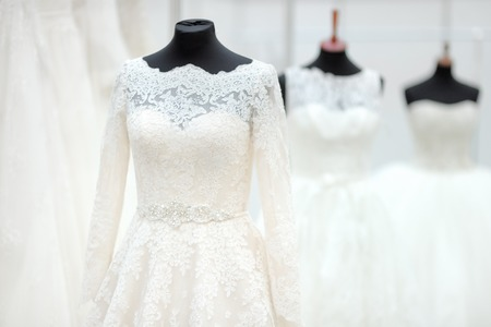 beautiful dress: Beautiful wedding dresses on a mannequin