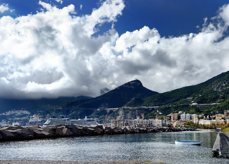 popular: Amalfi - seaside town in the Gulf of Salerno in the Italian province of Salerno, the heart of the Amalfi coast - a UNESCO World Heritage Site. Italy.