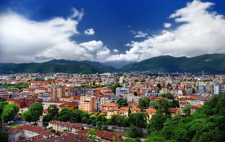 castle if: City if Brescia - view from the castle (citadel) of Brescia. Lombardy. Italy. Editorial