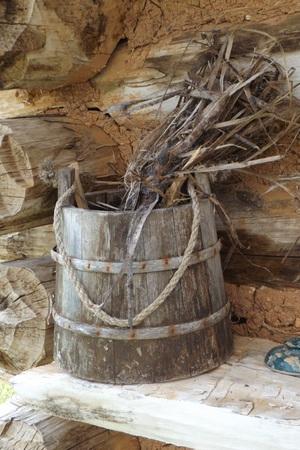rustic: Rustic Bucket Stock Photo