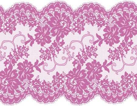 Seamless Vector Pink Lace Pattern Foto de archivo - 76156341