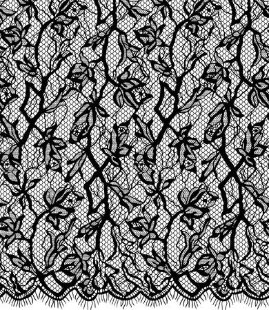 Seamless vecteur motif de dentelle noire Banque d'images - 75750852