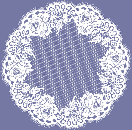 royal wedding: Vector White Lace Frame
