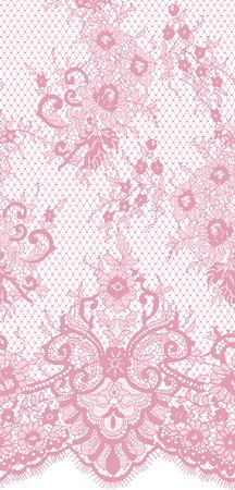 シームレスなベクトル ピンクのレース パターン