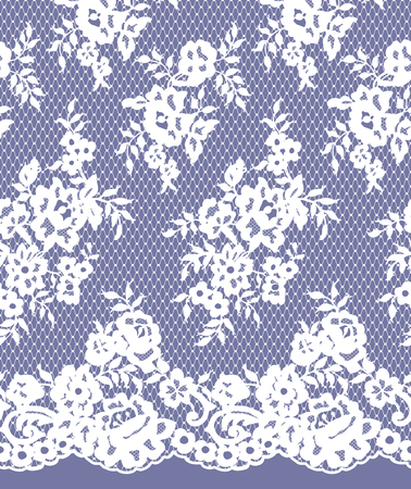 fabric textures: Seamless Vector Detail Lace Pattern Illustration