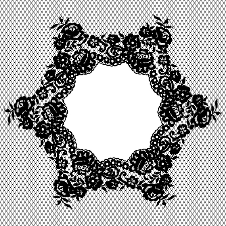 fabric textures: Vector Lace Circle Pattern Illustration