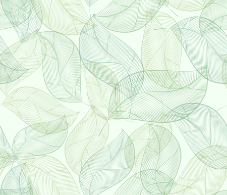 fabric textures: Seamless Vector Leaves Pattern