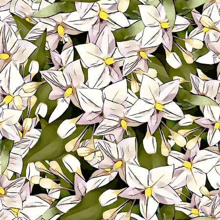 watercolour: Seamless Vector Flowers Pattern