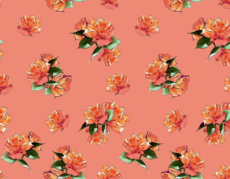 watercolour: Seamless Vector Peonies Pattern