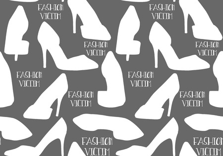 fabric textures: Seamless Vector Fashion Pumps Pattern