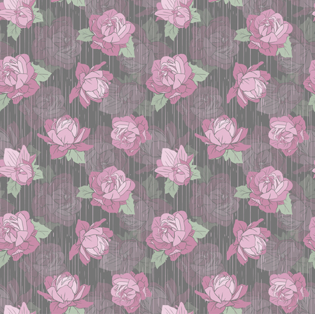 fabric textures: Seamless Vector Pink Peonies Pattern