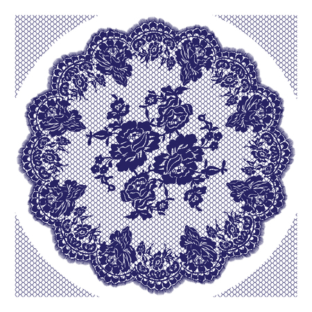 fabric textures: Vector Blue Lace Frame