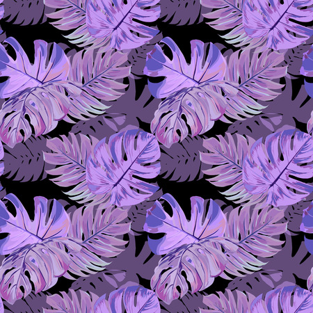 natures: Seamless Vector Exotic Leaves Pattern