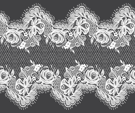 abstract flowers: Seamless Vector White Lace Pattern Illustration