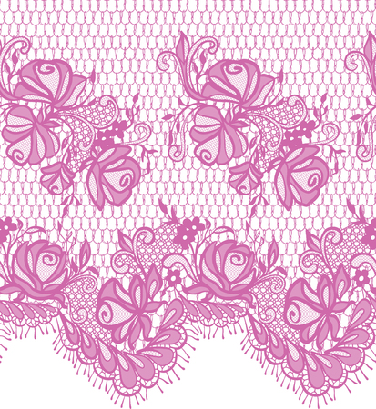 Seamless Vector Pink Lace Pattern