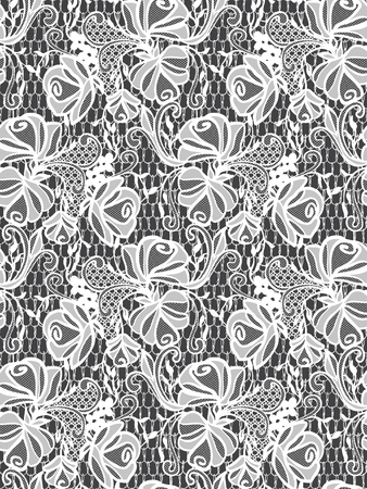 background textures: Seamless Vector White Lace Pattern Illustration