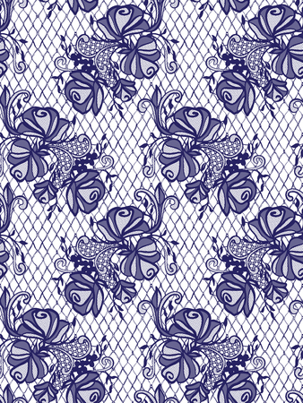 background textures: Seamless Vector Blue Lace Pattern
