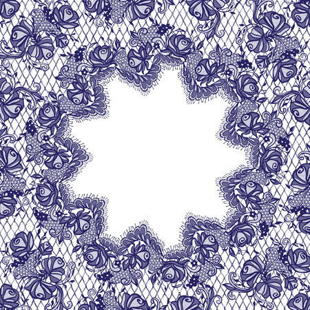 background textures: Vector Blue Lace Frame