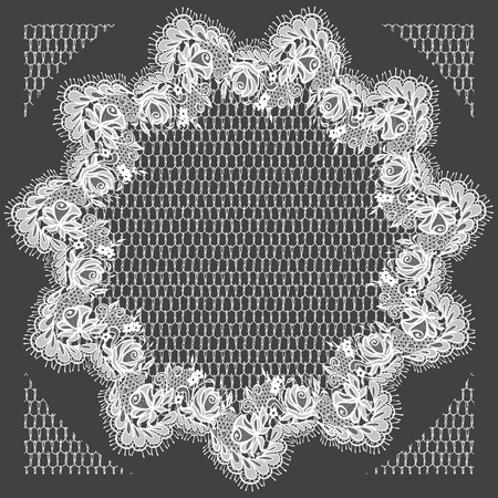 background textures: Vector White Lace Frame