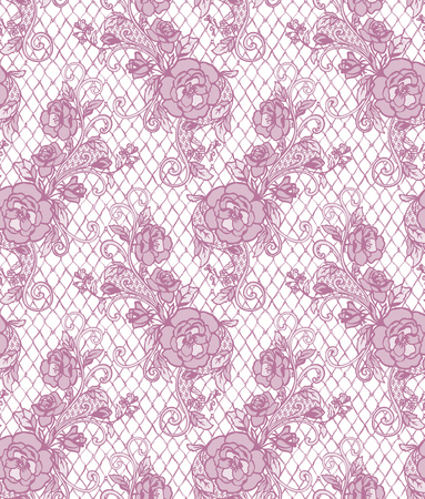 abstract flowers: Seamless Vector Pink Lace Pattern