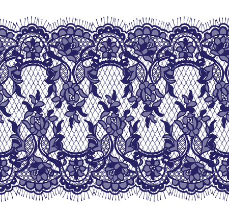 A Seamless Vector Blue Lace Pattern illustration.