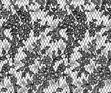 background textures: Seamless Vector Black Lace Pattern