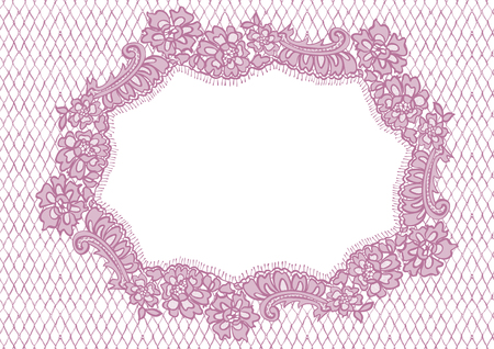 background textures: Vector Pink Lace Frame
