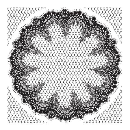 background textures: Vector Black Lace Frame Illustration