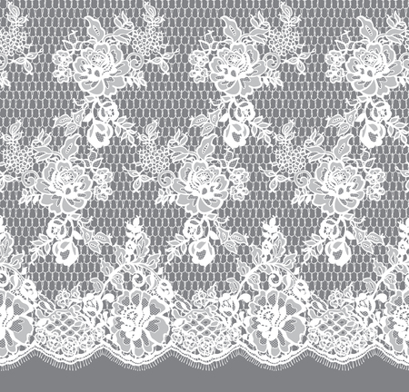 Seamless Vector White Lace Pattern  イラスト・ベクター素材